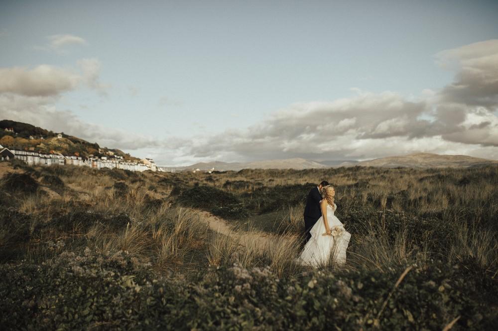 scenic wedding shot