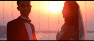 Santorini wedding scene